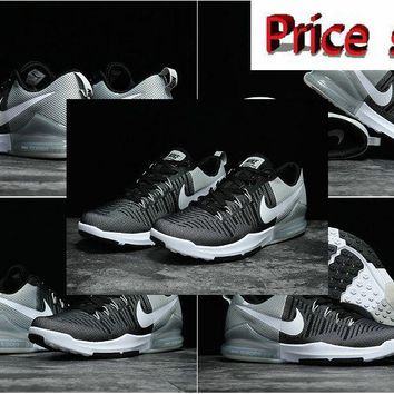 2018 Official Nike Mens Zoom Train Action Cross Trainer 2017 Black Wolf Grey White shoes