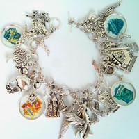Harry Potter charm bracelet - white house crests