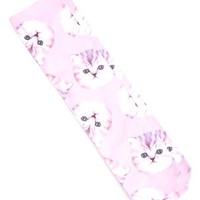 CAT PHOTO PRINT SOCK