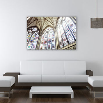 Church Canvas Art Kitchen Religion Print Fine Art Wall Deco Fine Art Photography Repro Print for Home and Office Wall Decoration