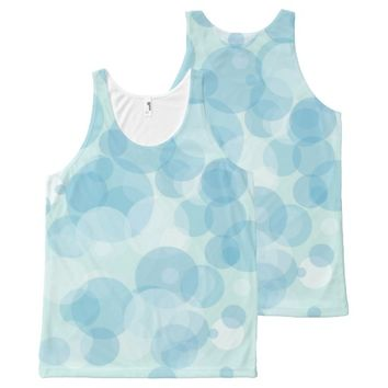 Blue Bubbles All-Over Print Tank Top
