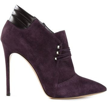 Casadei laced up front low ankle boots