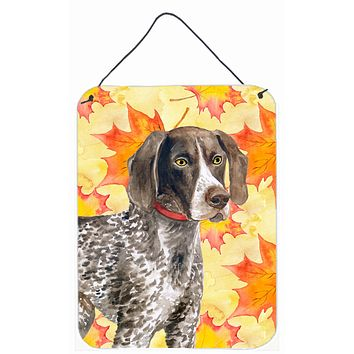 German Shorthaired Pointer Fall Wall or Door Hanging Prints BB9902DS1216