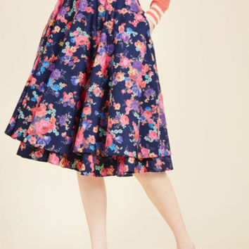 Essence of Elan Midi Skirt | Mod Retro Vintage Skirts | ModCloth.com