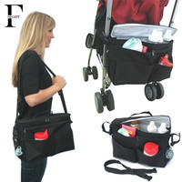 Insulation Baby Stroller Organizer baby stuff storage with shoulder strap waterproof stroller bag portable mother maternity bag