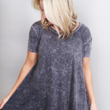 Acid Wash Top {Charcoal}