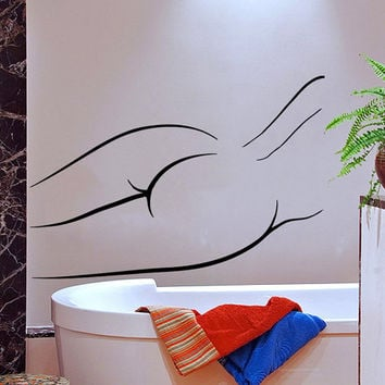 Nude Woman Silhouette Wall Decal Bathroom Vinyl Stickers Spa Beauty Salon Decor Home Interior Design Girls Room Decor Bath Art Murals M721
