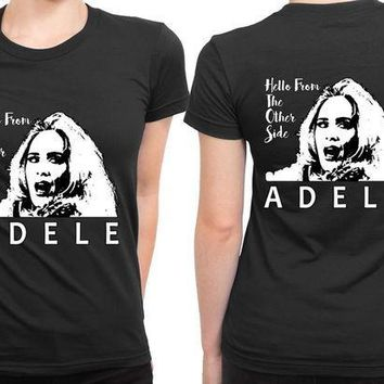 ESBH9S Adele Hello From The Other Side Illustrations 2 Sided Womens T Shirt