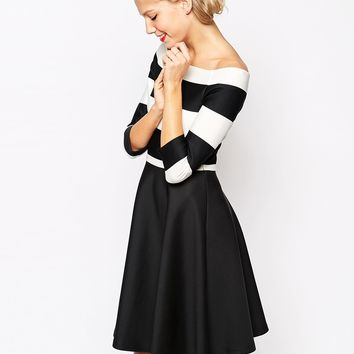Coast Immy Dress in Stripe