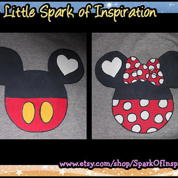 His & Hers Mickey and Minnie Icon T-Shirts