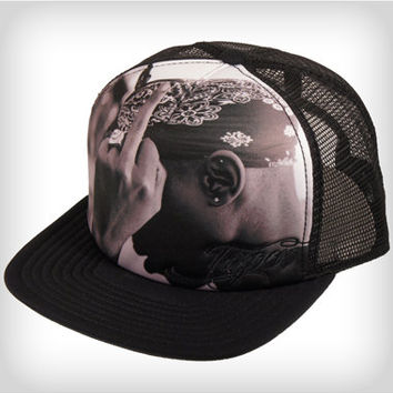 Tupac Finger Trucker Hat