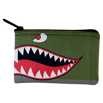 Halloween WWII Flying Tiger Fighter Shark Nose Art Coin Purse