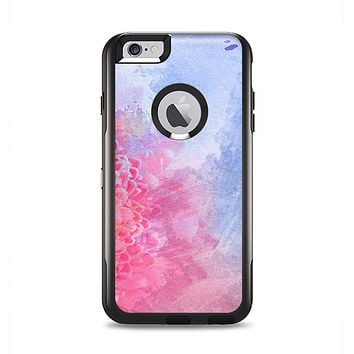 The Pink to Blue Faded Color Floral Apple iPhone 6 Plus Otterbox Commuter Case Skin Set