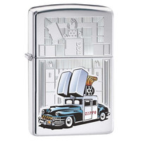 Zippo Zippo Car High Polish Chrome Lighter