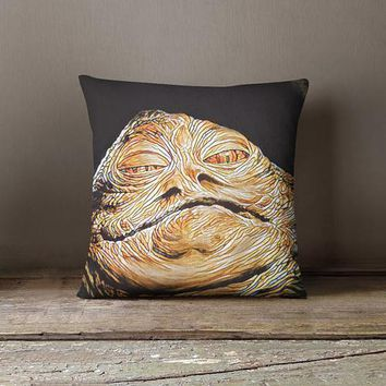 Jabba The Hutt Throw Pillow Cover Star Wars - Free Shipping