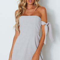 Who's That Girl Mini Dress Grey