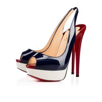 Lady Peep Sling 150 Version Night Patent Leather - Women Shoes - Christian Louboutin