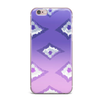 "Alison Coxon ""Purple Ombre Ikat "" Lavender White iPhone Case"