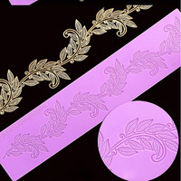 Silicone Mat Fondant Cake Decorating Styling Tools Kitchen Silicone Lace Mold leaves