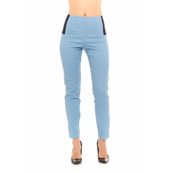 Red Jeans Women's Elastic Waist Casual Stretch Denim Pants