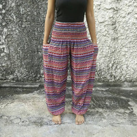 Boho Zen Trousers Yoga Pants Hippies Baggy Boho Fashion Style Clothing Rayon Gypsy Tribal Clothes For Beach Summer Chic Fashion Men Women