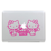 Hello Kitty Decal Sticker of MacBook