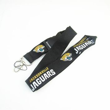 Jacksonville Jaguars Keychain Lanyard Neck Strap Key Ring For ID Pass Card Badge Gym Key Mobile Phone USB Holder Lanyard