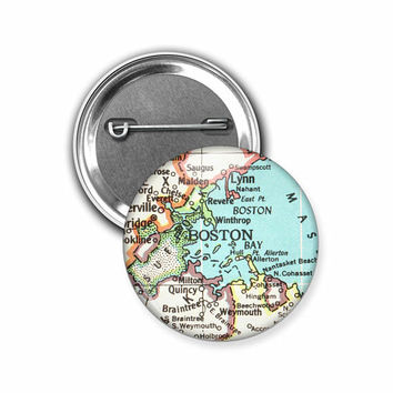 Custom Map Button Pins, 1.5 inch, Map Pin, Atlas Pin, City, State, Landmark, Gifts for Travelers, Map Gifts, Wholesale Discounts Available