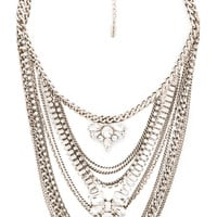 Lisa Freede Kingsley Necklace in Antique Rhodium