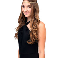 Gold Mesh Stretch Headband