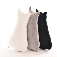 1 Pcs Sofa Pillows Personality Cat Shadow Cushions Plush Toy Holiday Gift D 2