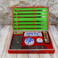 Vintage Chinese Calligraphy Set, Never Used