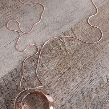 Curl Circle Pendant Statement Necklace