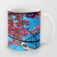 Flowers, Nature, Spring Blossoms, Pink Blue - Ceramic Mug, 2 Sizes Available-Kitchen, Bathroom, New Home, Dorm, Gift - Made To Order - SB#08