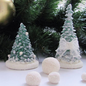 Green  Christmas Tree   Christmas Tree with white  snow  decorations nursery decor christmas gifts