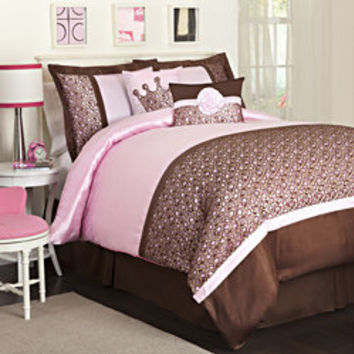 Lush Decor 6-piece Brown/Pink Leopard Brown Comforter Set  | Overstock.com