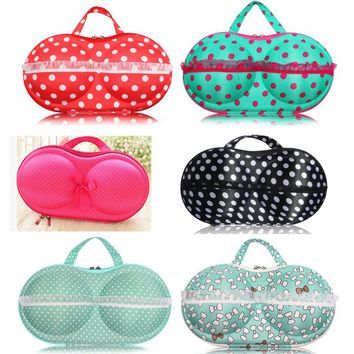 Women Bra Storage Box Various Lovely Print Lady Portable Underwear Protect Case Bras