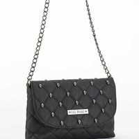 GG Rose Quilted Skull Cross Body Purse