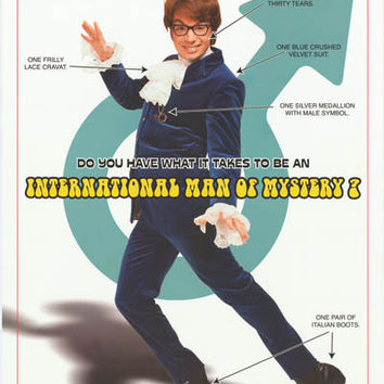 Austin Powers 2002 Movie Poster 22x34