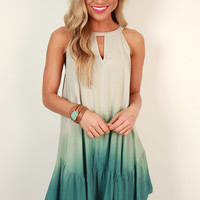 Venice Love Ombre Tank Dress in Mint