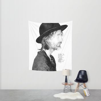Thom Yorke Watercolor portrait by MrNobody Wall Tapestry by Mrnobody
