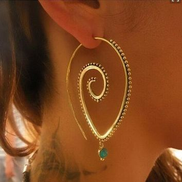 Sun and Reign - Handmade Spiraled Earrings