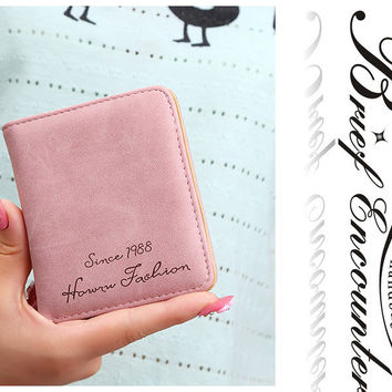 Cheaper Leather Short Women Wallet Lady Purses Practical Mini Big Capacity Leather Women Wallets Holder