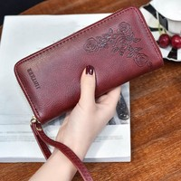 women wallets leather female long   holder  passport covers travel accessor leather  coin pocket small etui na #H3