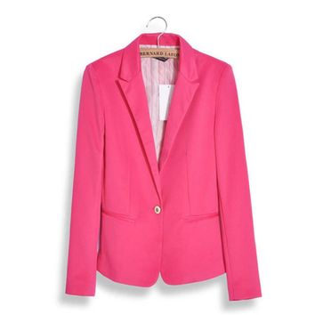 2017 Spring Autumn Fashion Women Suit Jackets Female Slim Women Office Blazer Single Button Suit Jacket