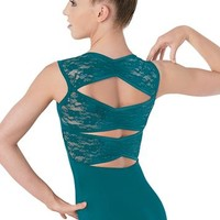 Lace Pinch-Back Leotard