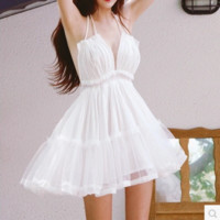 White  Lace Swing Dress B0015242