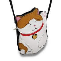 Sleepyville Critters Good Fortune Cat Cross Body Bag - Multicolored | Overstock.com Shopping - The Best Deals on Clutches & Evening Bags