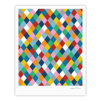 "Project M ""Harlequin Zoom"" Fine Art Gallery Print"