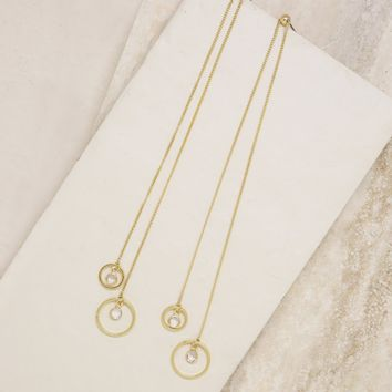 Better Threader Gold and Crystal Earrings